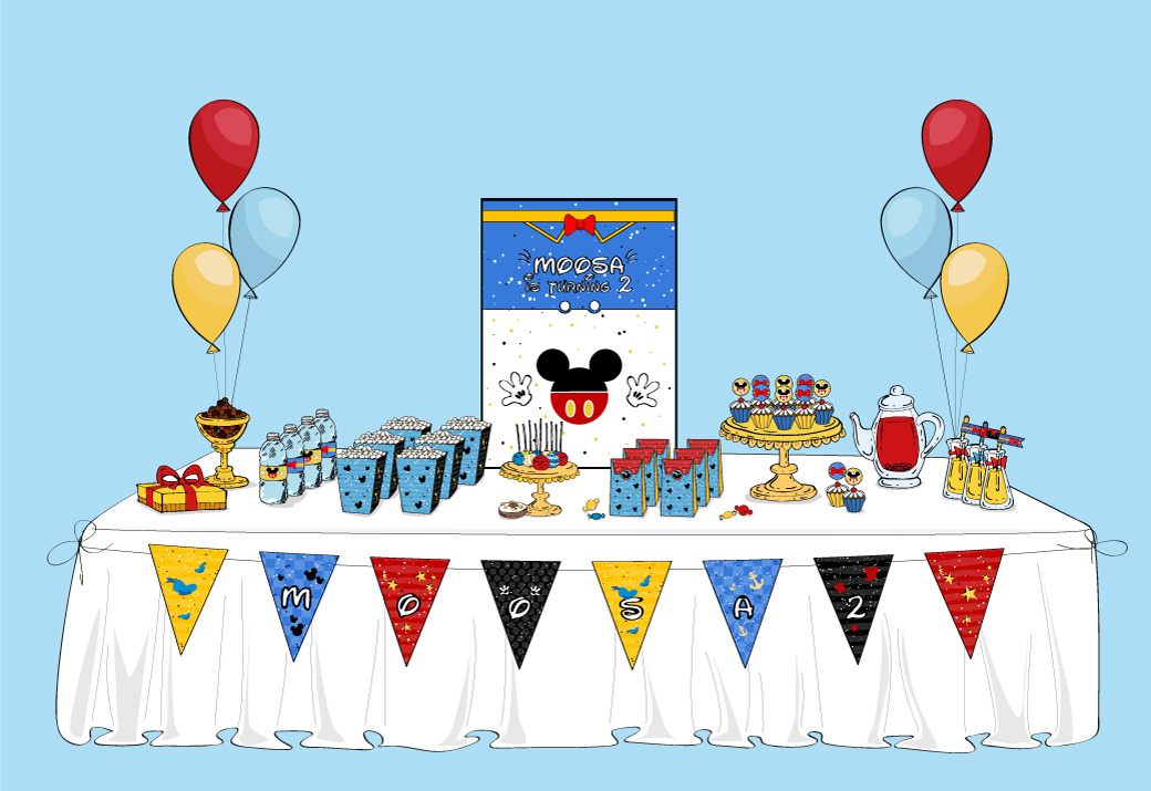 Table Mickey Mouse & Donald Duck